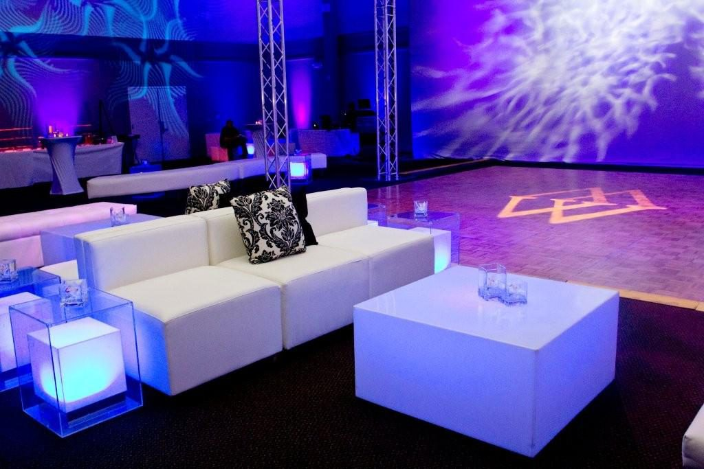 A wedding to remember!  All lounge seating designed by The Party Link.
