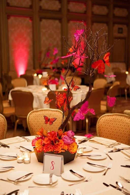 Butterflies capture the glow of a Grand Del Mar Bat Mitzvah.