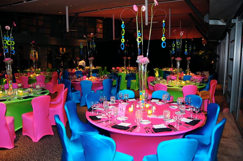 Colorful fun Bat Mitzvah celebration at the Hyatt Aventine!