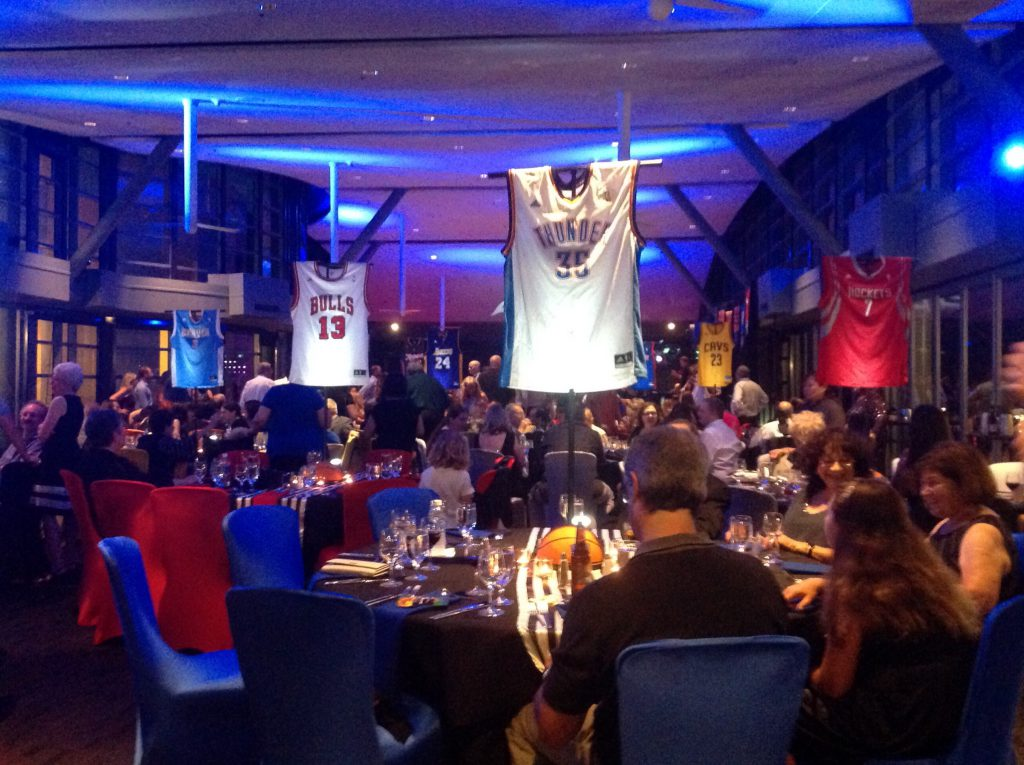 Loving the basketball vibe of Daniel's Bar Mitzvah at the Hyatt Aventine!