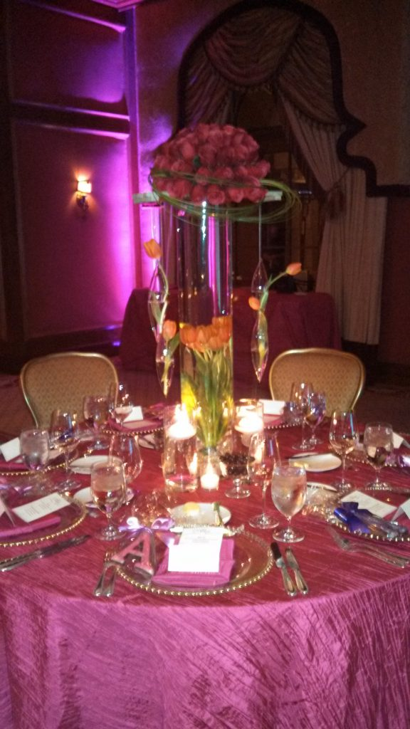 Gorgeous decor created by The Party Link at the Grand Del Mar.