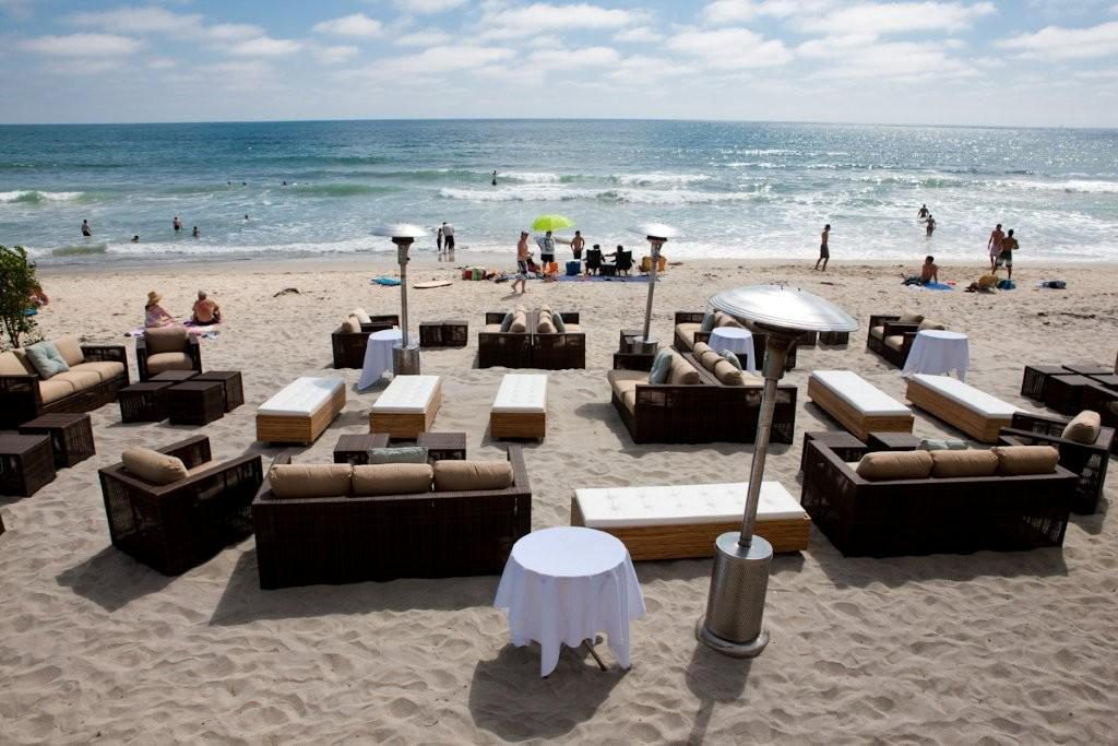 A beautiful spot for a fabulous wedding--decor on the beach by The Party Link.