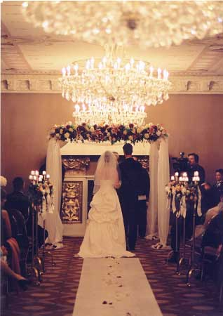 A formal wedding at the US Grant Hotel in San Diego