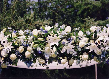 Beautifully arranged chuppah flowers
